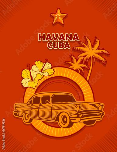 imagen de auto aniguo de la ciudad de La Habana Cuba