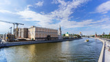 Cityscape of Moscow viewing and Cathedral of Christ the Saviour , Kremlin Palace and Moskva River