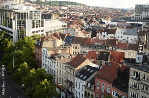 Foto op Plexiglas Brussel Vues de Bruxelles-Ville depuis la grande-roue de la Foire du Midi (Belgique)