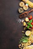 Italian food. Pasta ingredients - 167945710