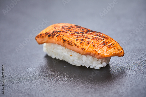 sushi on the black background Poster