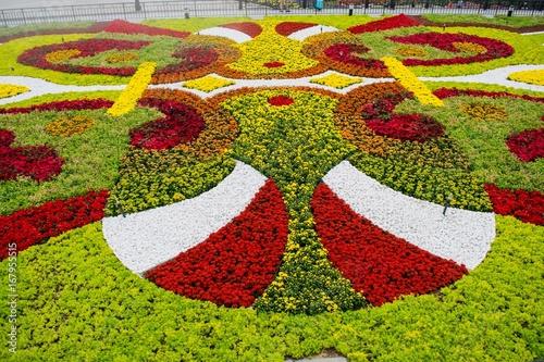 Fridge magnet Flower garden at Ba Na Hills, Da Nang