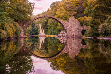 Rakotz Bridge - Optical Illusion with Reflection.