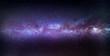 A meteor streaks through the Milky