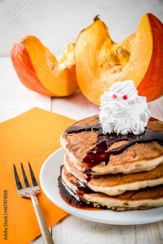 Ideas for children's breakfast, treats for Thanksgiving and Halloween Poster