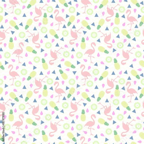 Flamingo seamless pattern....