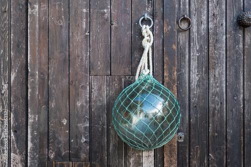 mer océan déco boule marine filet pêche bois latte palissade marin corde bretagne