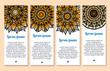 Paisley flower, indian mandala ornament banner set - 167995346