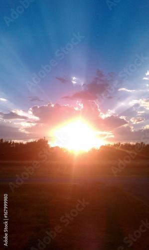 Foto op Plexiglas Rood paars sunset