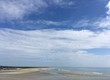 morning clouds over Ogunquit beach at low tide, Maine