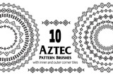 Aztec vector pattern brushes with inner and outer corner tiles. Can be used for borders, ornaments, frames and design elements. All used brushes are included in brush palette. - 168010521