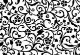 horizontal floral vintage background
