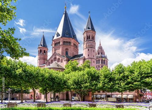 Leinwanddruck Bild Sankt Martin Dom Mainz Bischofskirche Architektur