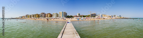Panoramic view on the beach - 168020532