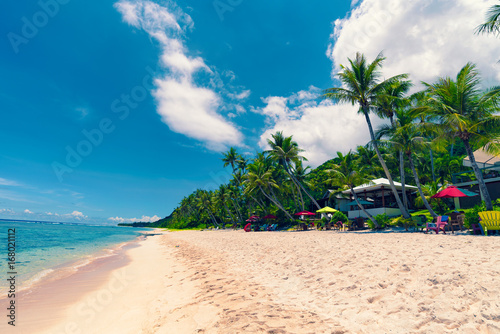 Aluminium Blauwe jeans Coco Palm Garden Beach in Guam
