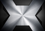 silver metal with x design background