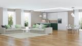 Modern house interior. 3D rendering. - 168031175