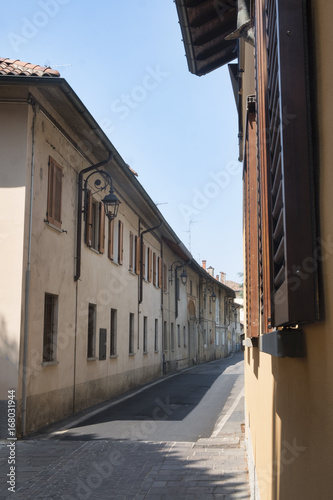 Inzago (Milan, Lombardy, Italy): old street
