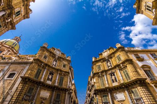 Plexiglas Palermo Quattro Canti square in Palermo, Italy