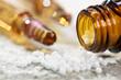 Leinwanddruck Bild - Naturmedizin, Homöopathie und alternative Medizin mit Globuli