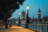 Fototapeta Londyn - Big Ben and Houses of Parliament © chalabala