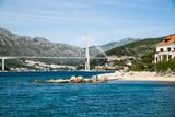 The Franjo Tudman cable-stayed bridge, Dubrovnik, Croatia. - 168043120