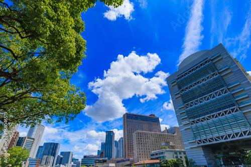 Aluminium Donkerblauw 大阪 キタ 都市風景