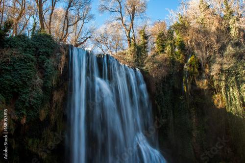 Waterfall in Monasterio de Piedra Natural Park, Zaragoza, Spain.