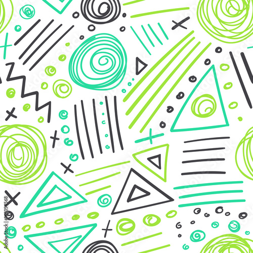 abstract marker colorful lines seamless pattern © samiola