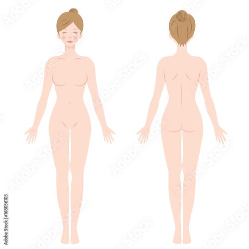 女性 裸 全身