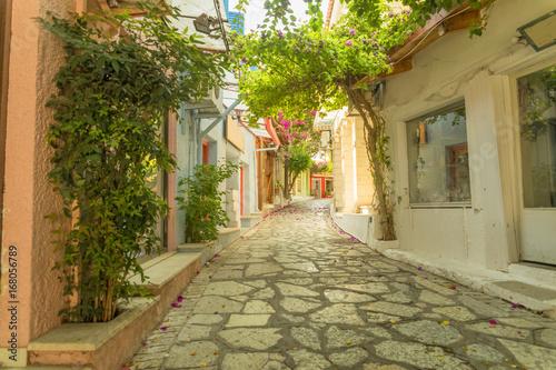 Fototapeta Preveza city Saitan Pazar alley Greece