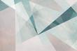 Leinwanddruck Bild - graphische abstrakte Formen in hellen Pastelltönen - Hintergrund Design