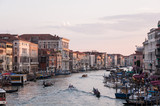 View from the Rialto bridge at sunset