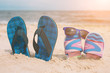 Quadro Flip-flops. Summer vacation concept