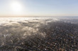 Quadro Aerial view of afternoon pacific ocean fog rolling in over the South Bay area of Los Angeles County, California.