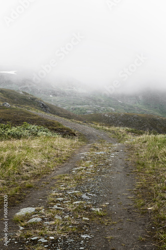 Foto op Canvas Wit Road trip in the Lyngen Alps, Tromsø region, Norway