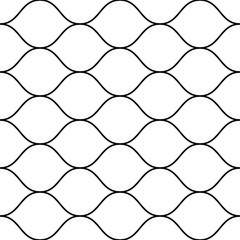 Mesh pattern, thin wavy lines. Horizontal mesh seamless texture © Olgastocker