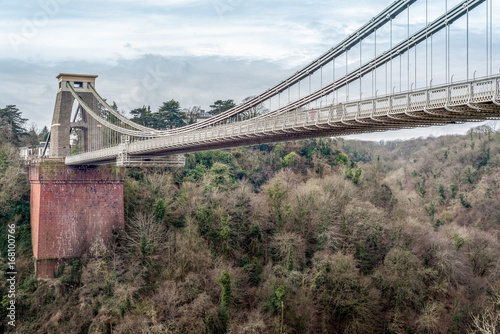 Sticker Clifton Suspension Bridge in Bristol, UK based on design by Isambard Kingdom Brunel,opened in 1864