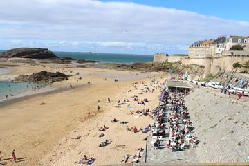 rempart Saint Malo plage