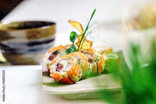 Poster set of sushi