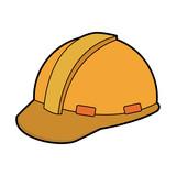 construction helmet element safety in construction work vector illustration - 168158957