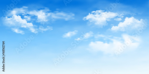 Background with clouds on blue sky. Blue Sky vector - 168162764