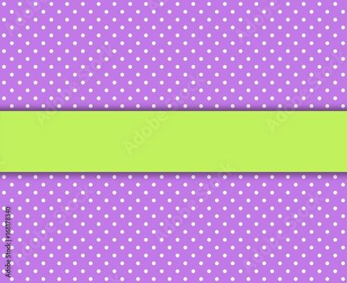 Gepunkteter Hintergrund lila weiß mit grünem Streifen