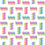 Vector seamless abstract colorful geometric wave pattern