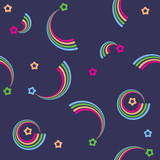 Vector seamless color retro pattern with stars