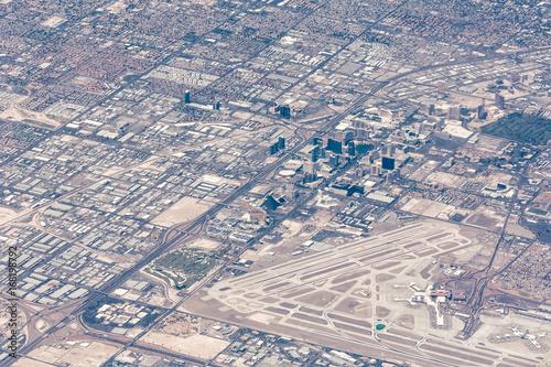 Deurstickers Las Vegas Aerial view of Las Vegas, Nevada