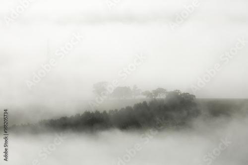 Misty Landscape on Early Morning - 168205734