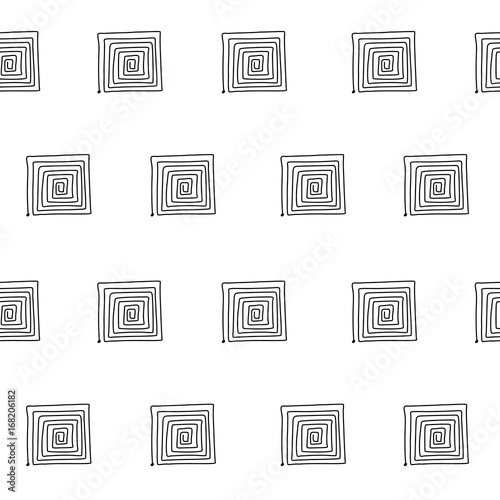 Seamless graphic pattern with labyrinths, mazes. Vector abstract background - 168206182