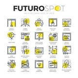 Dark Side of Web Futuro Spot Icons