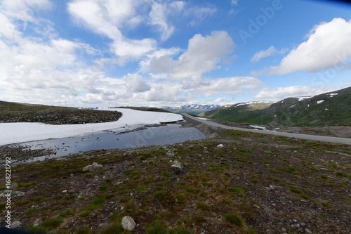 Foto op Canvas Grijze traf. Norway Norvège